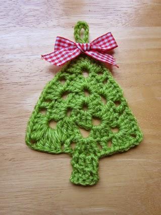 Adornos de crochet para naviad