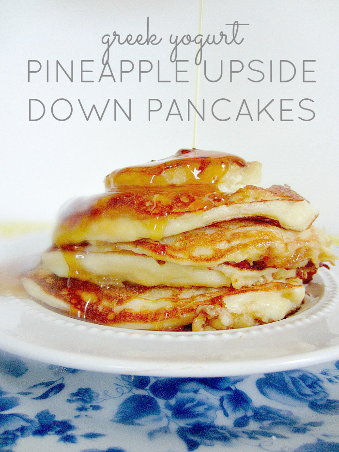 Greek Yogurt Pineapple Upside Down Pancakes | Club Narwhal