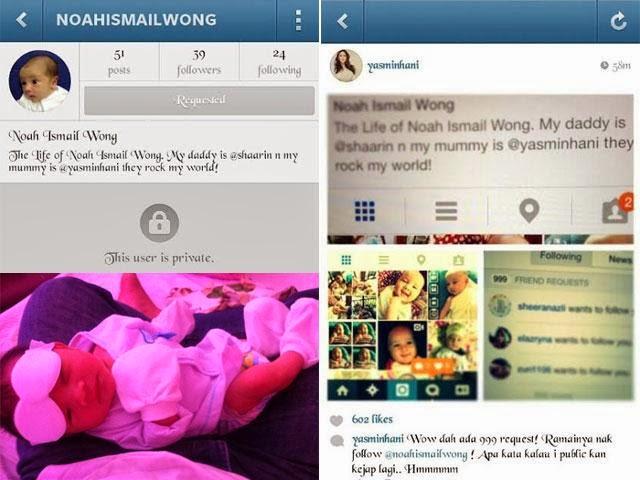 Yasmin Hani Wujudkan Laman Instagram Untuk Bayinya, Noah