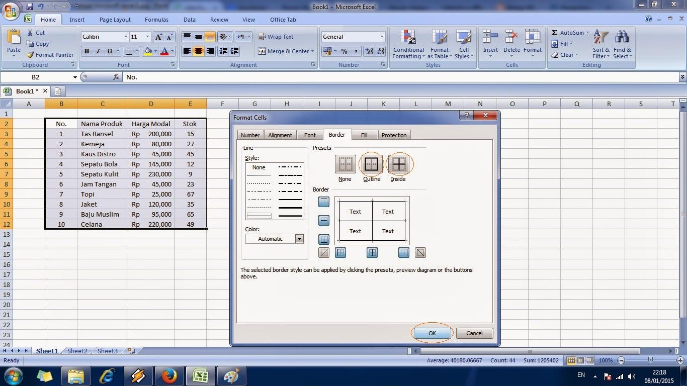 microsoft, excel, cara, belajar, ms, tutorial, cepat, panduan