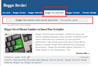 Blogger Dersleri - Blogspot Link Yönlendirme