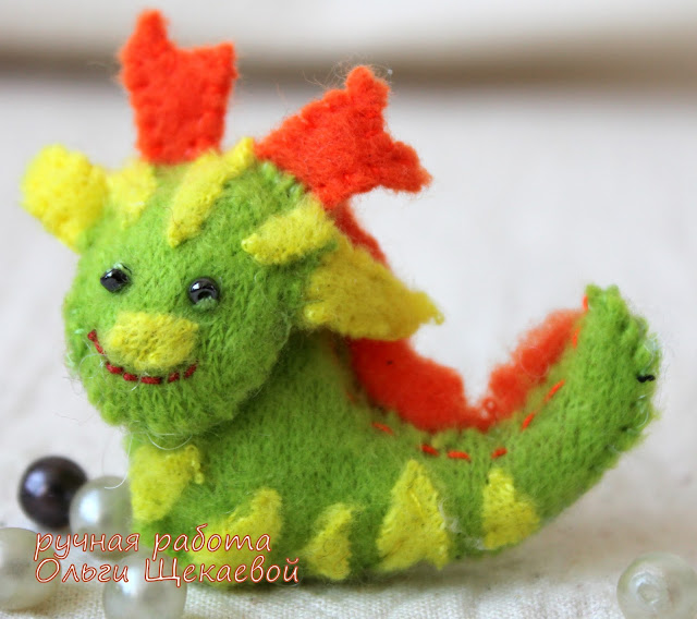 дракон, китайский гороскоп, ёлочная игрушка