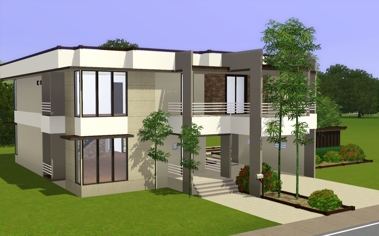 Studio peaches update to zen modern for Modern house with floor plan