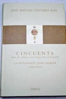 """""""Cicuenta años de cultura e investigación en España"""" - José Manuel Sanchez Ron."""