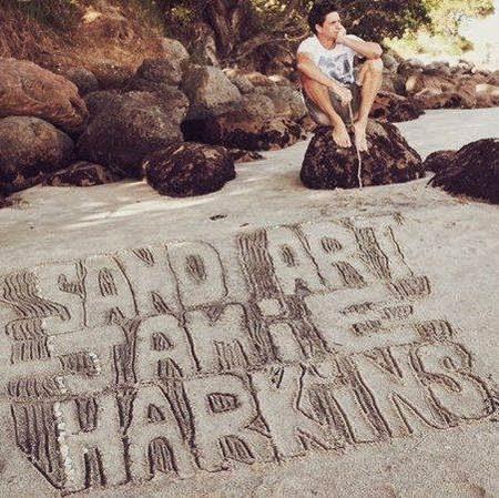 sand art 3D painting by Jamie Harkins