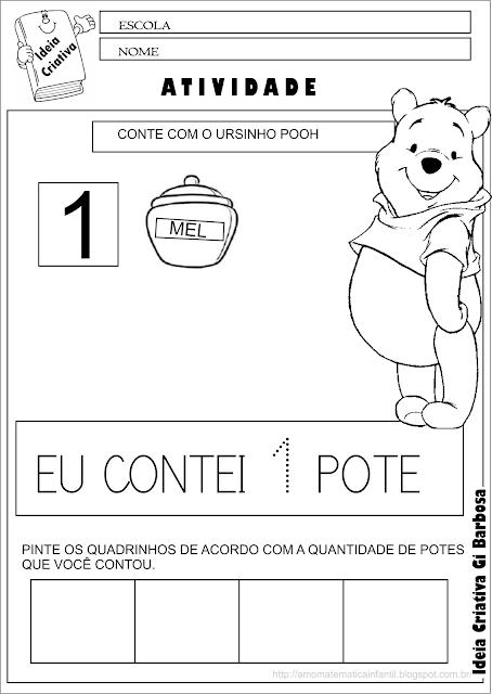 Atividade Número 1 Ursinho Pooh