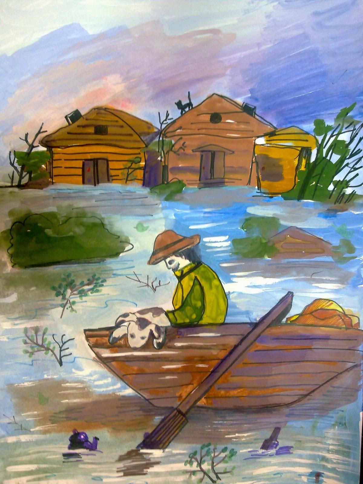 по наводнение обж рисунок