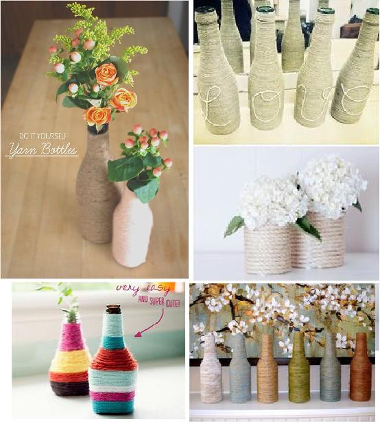 diy convertir botellas de vidrio en florero