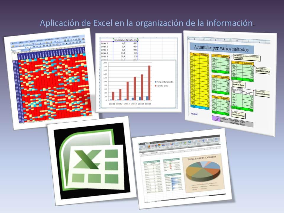 Aplicaciones de informatica: Aplicación de Excel en la