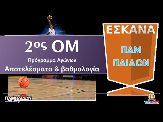 ΠΑΜΠΑΙΔΩΝ 2ος ΟΜ ✵ Το πρόγραμμα αγώνων
