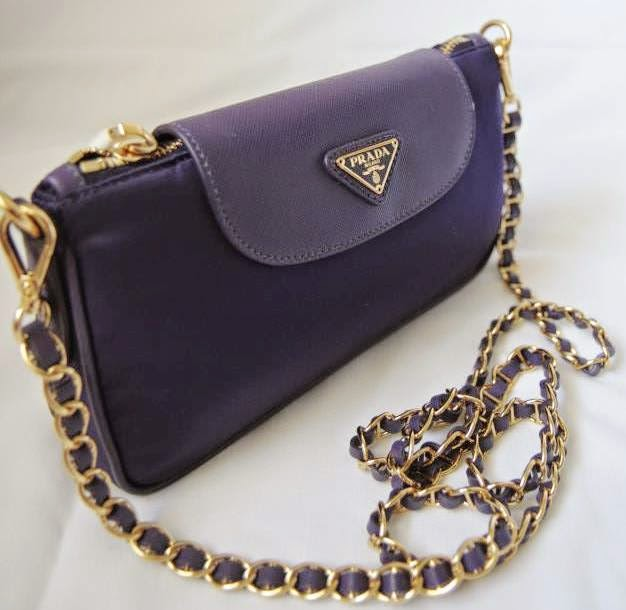 prade purses - Prada Nylon Tessuto Saffiano Clutch Sling Bag BT0779 - UVA (Purple ...