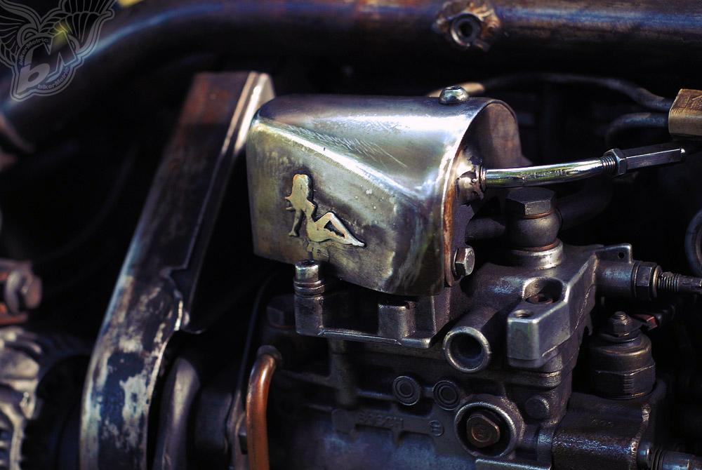 custom vw golf bobber - motor detail | fotoduda