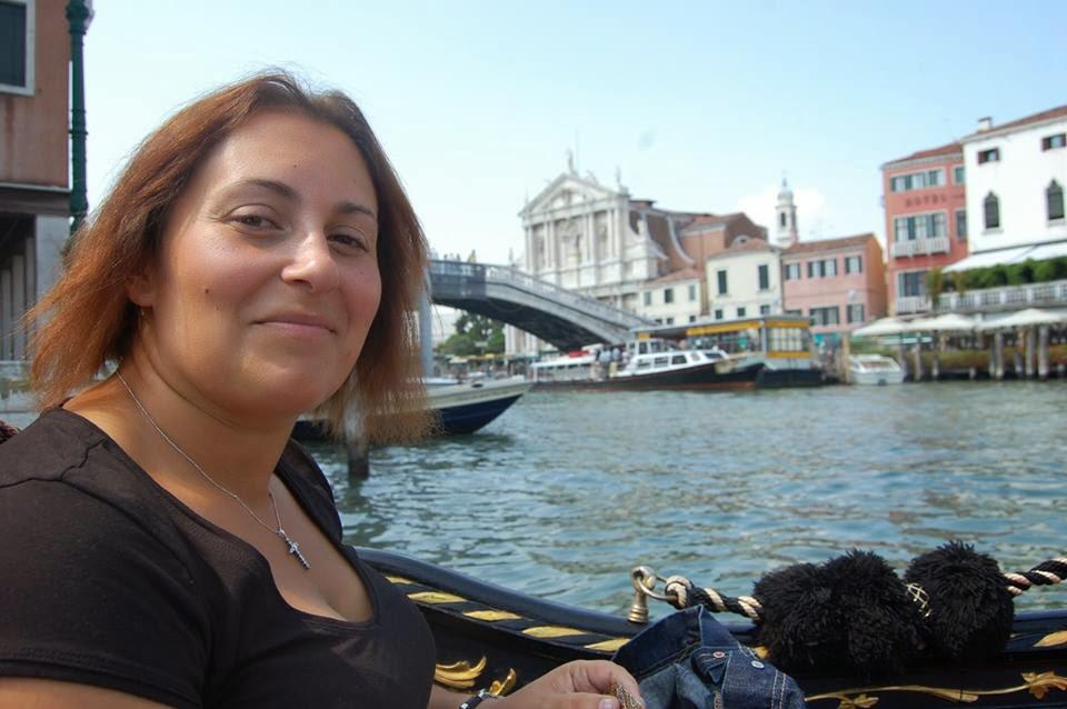 Passeio de gondola em Veneza...