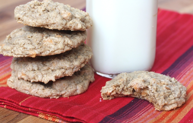 Soft and Chewy Oatmeal Butterscotch Cookies recipe by Barefeet In The Kitchen