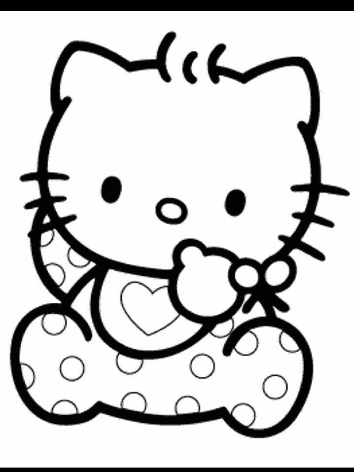 Hello Kitty Quero Colorir - imagens para colorir hello kitty