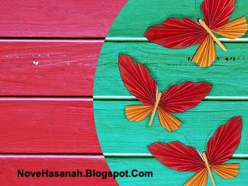 cara membuat hiasan dinding kupu-kupu dari kertas origami