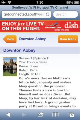 You Can Watch Downton Abbey In-Flight For Free On Southwest Air