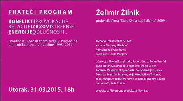 """""""Umetnost u proširenom polju"""" - pogled na umetničku scenu Vojvodine 1995-2014."""