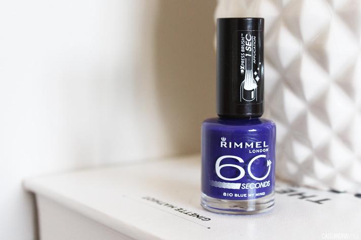NOTD // Rimmel 60 Seconds Nail Polish in 810 Blue My Mind - CassandraMyee