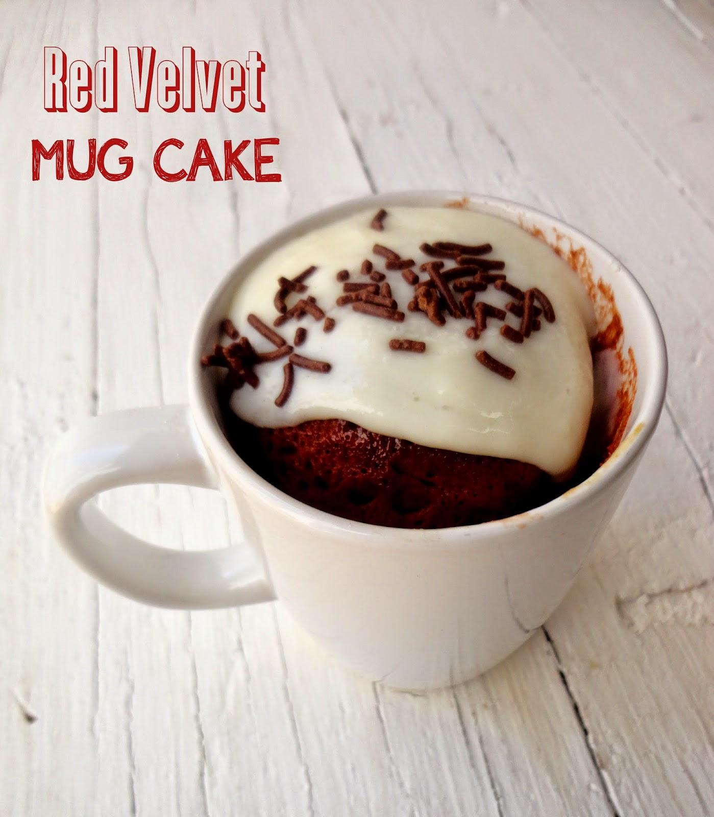 Red Velvet Mug Cake From Box