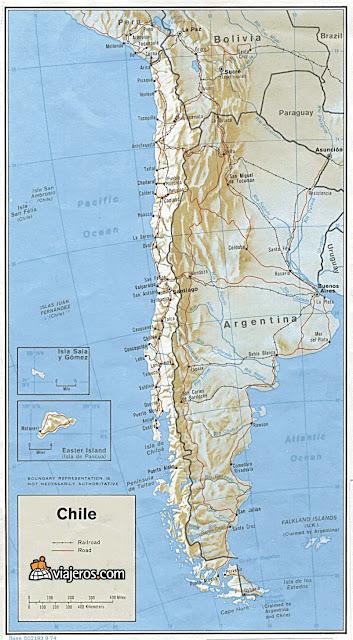 mapa de chile detallado