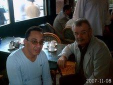 هشام مع المخرج السوري عبد اللطيف عبد الحميد
