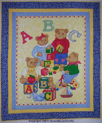bear panel quilt