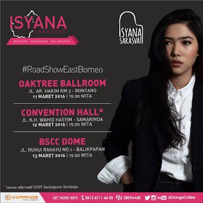 East Borneo Road Show With Isyana Sarasvati, 11 Maret Di Oak Tree Hotel