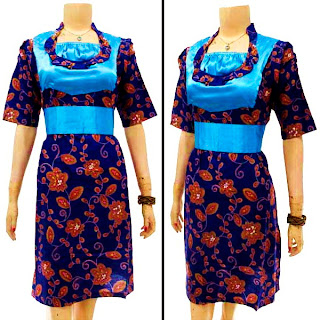 DB3124 - Mode Baju Dress Batik Modern Terbaru 2013