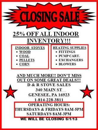 Closing Sale On Stoves............#517