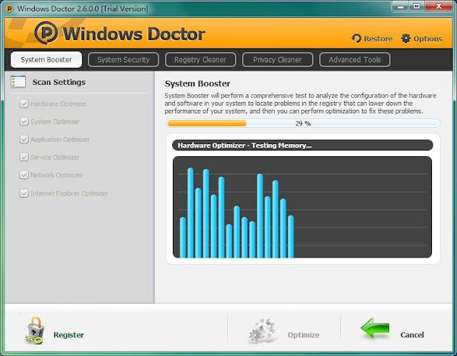 تحميل برنامج دكتور ويندوز لحماية والحفاظ على وتحسين أداء جهازك مجاناً Doctor 2-7-5 free
