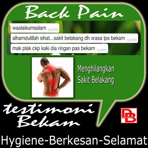Testimoni Back Pain