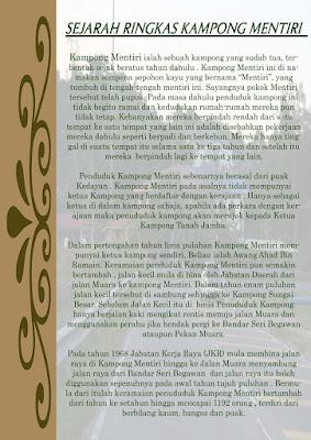 history of Kampong Mentiri