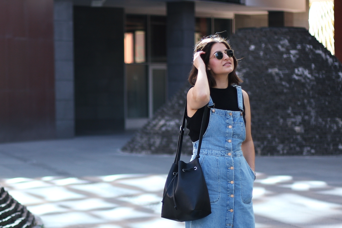 OVERALL DENIM DRESS