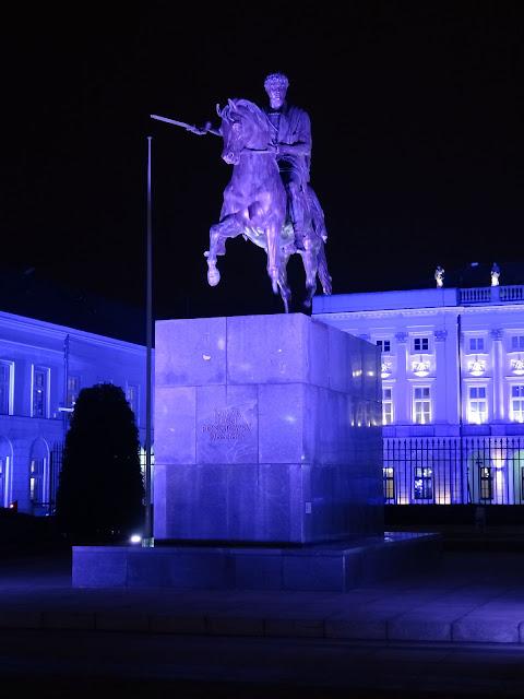 Magia świątecznych świateł Pałac Prezydencki 2012