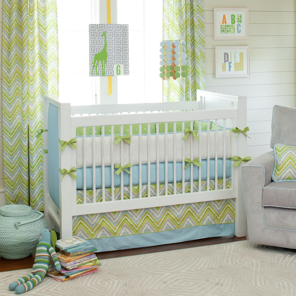 Quarto De Beb Masculino Verde Azul E Branco Toda Atual ~ Quarto Decorado Para Bebe Masculino