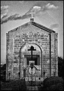 A cemetery chapel in Kalkara, Malta