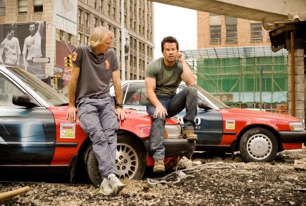 """Mark Wahlberg y Michael Bay en el rodaje de """"Tranformers 4: Age of Extintion"""