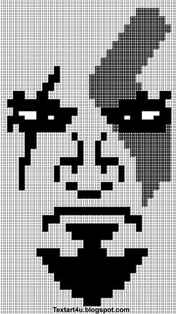 god of war kratos face ascii text art