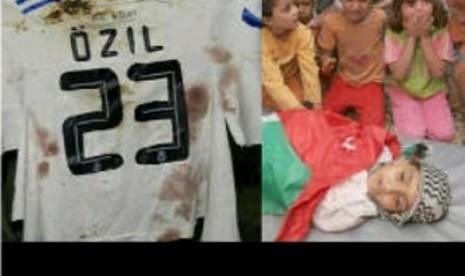 Mesut Oezil: Bebaskan Palestina!