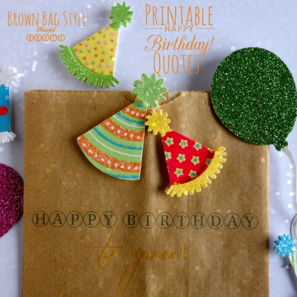 photograph relating to Printable Paper Bags titled BLISSFUL ROOTS: Printable Birthday Prices for Paper Baggage