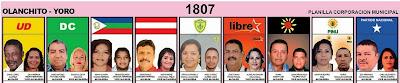 elecciones Honduras,Yoro,Colon, Olanchito,Arenal,Jocon