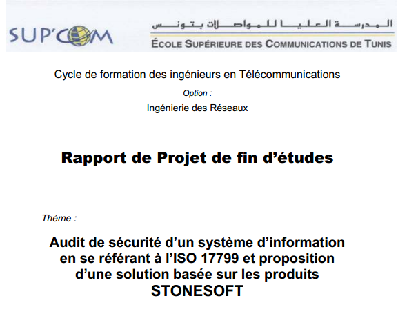 5bpdf 5d exemple rapport de pfe audit de s c3 a9curit c3