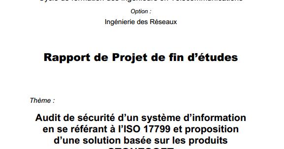 pdf  exemple rapport de pfe audit de s u00e9curit u00e9 d u2019un