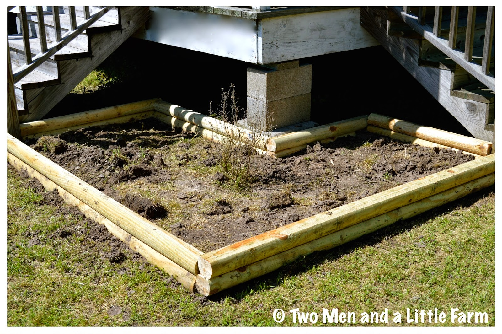 Two Men And A Little Farm LANDSCAPE TIMBER FLOWER BED
