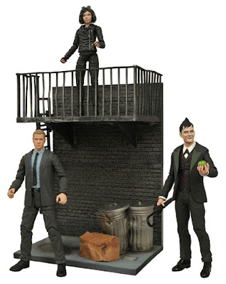 Gotham TV Series Select Action Figures Wave 1 by Diamond Select Toys - The Penguin, Jim Gordon & Selina Kyle
