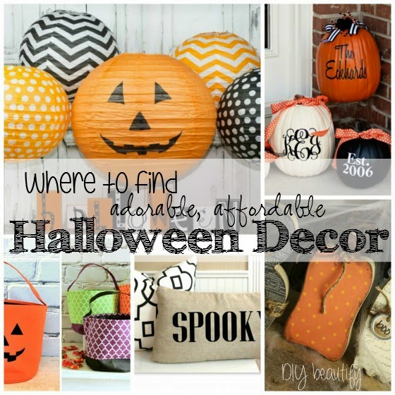 Affordable Halloween Decor ~ www.diybeautify.com