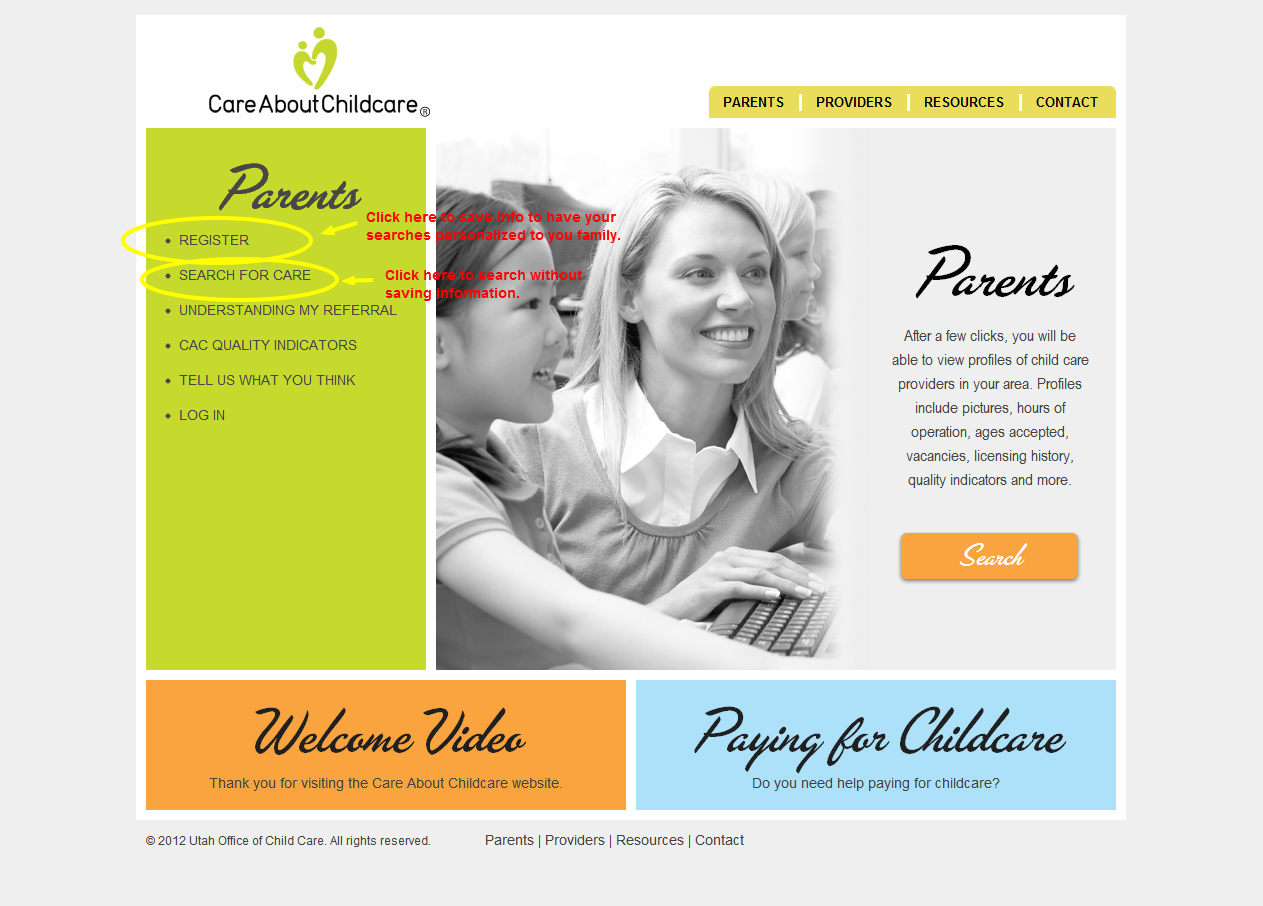 welcome baby: care about child care