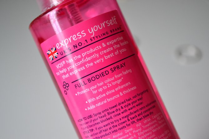 Vo5 Cherish My Colour Full Bodied Spray