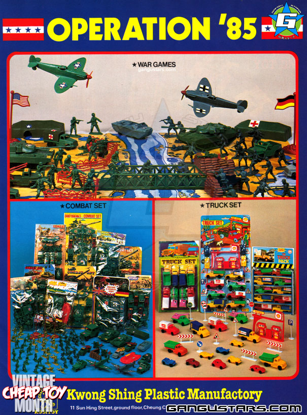 green army men lastic toys hong kong knock offs toys cheap asian bootlegs robots fakes 1980s retro toys vintage KOs
